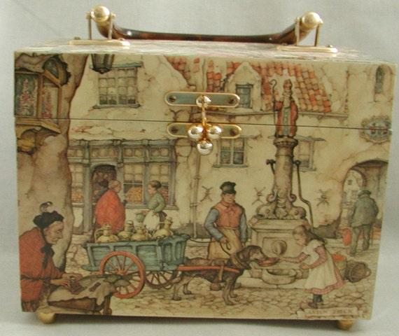 Anton Pieck  purr-fect  vintage decoupage purse