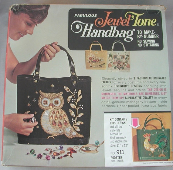 Jewel Tone Vintage Handbag Kit ...  Enid Collins style
