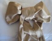 Bridal Sash: Dupioni Silk Dull Gold Wedding Gown Champagne Sash