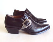 Reserved for Victoria BeScandinavia till 10th may, Sz 7 SouthWest 80s Vtg Nine West Buckle Booties