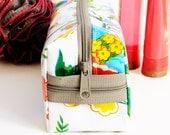 Makeup Bag Floral Oilcloth Large