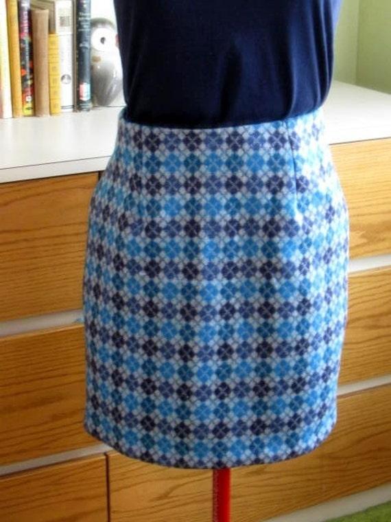 Handmade Wool Pencil Skirt