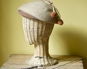 Vintage Camel Colored Wool Tam SPECIAL LISTING for  Sophia