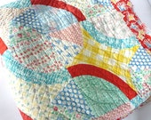 Vintage Wedding Ring Lined Quilt