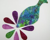 Applique Template in Downloadable Format - Small Peacock