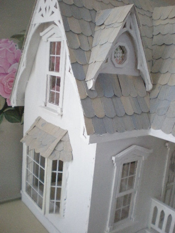 Blank Canvas White Wood Orchid Dollhouse By Cinderellamoments