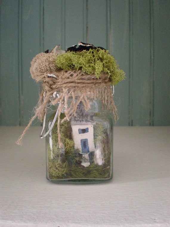 Tiny Cottage in a Jar