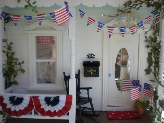 4th of July Battery Operated Dollhouse