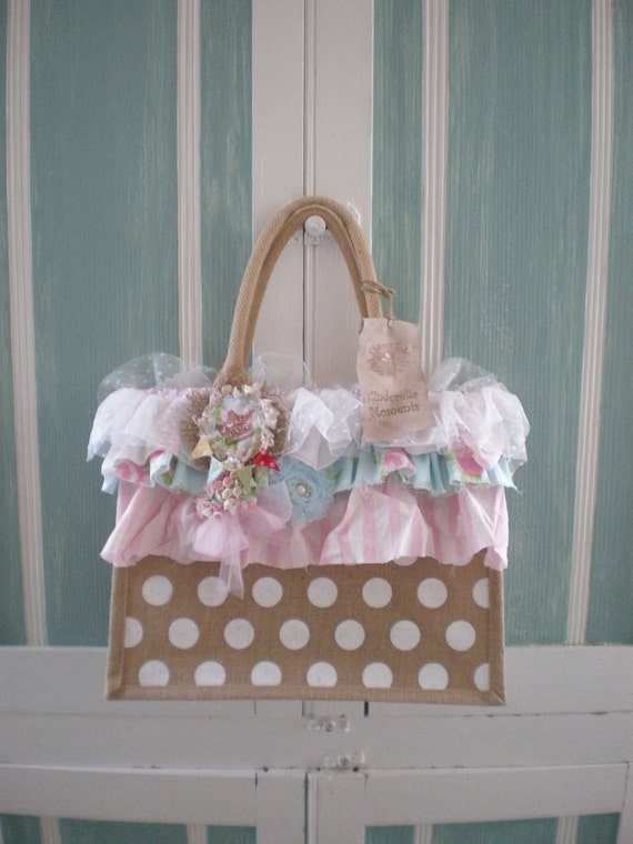 Shabby Chic Whimsical Tote Bag