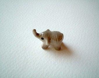 Little Grey Ceramic Elephant: mini animal, ceramic animal, tiny animal, small animal, little animal, decoration, small, little, mini, grey