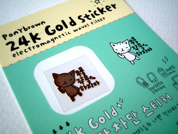 Cute Kawaii 24K Pure Gold Sticker : Electromagnetic Waves Filter for ipad, ipod, iphone, phone, mobile phone, discounted, SALE