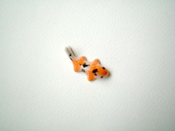 Miniature ceramic koi carp miniature carp miniature fish for Miniature koi fish