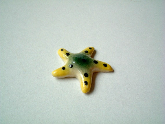 Miniature Ceramic Starfish Figure, miniature animal, ceramic animal, tiny animal, small, little, decoration, tiny, animal figurine, iammie