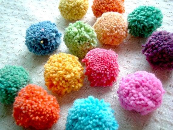 100 Cotton Party Pom Pom, pompom, yarn pom pom, wedding, birthday, party poms, party decoration, yarn bead, iammie, SALE, discounted