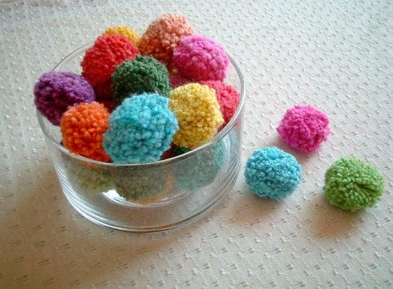 Yarn Pom Pom, cotton pom pom, pompom, party, decoration, wedding, toss, fancy, colorful, hmong, 200 poms, carnival, iammie, SALE, discount