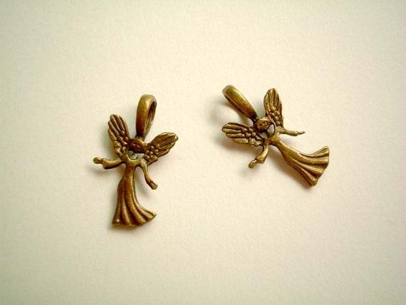 Angels Brass Charm, cute, kawaii, vintage-look, pendant, fantasy, fairy, carnival, mini, miniature, tiny, doll, metal, SALE, discount, cij