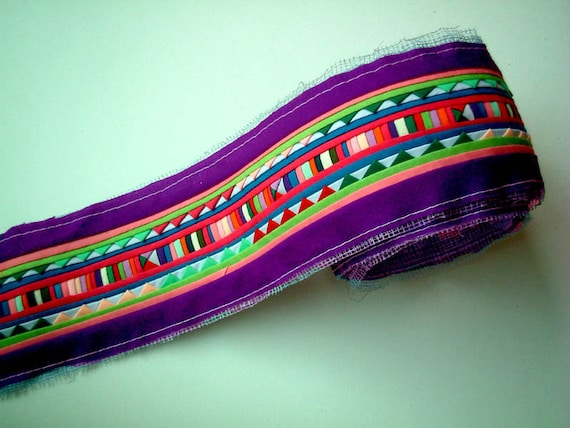 RESERVED listing -- Bright Purple Sewn Fabric for Crafting, fabric craft, bag, quilt, clothes, textile, hill tribe, hmong, lisu