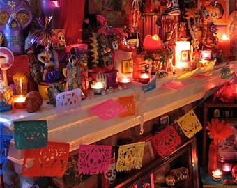 Day of the Dead Altar- A Signed 5x7 Fine Art Photograph-  Let's Celebrate