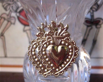 SACRED HEART Intricate Mini Milagro Earrings- Perfect gift for the one you love
