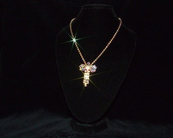 vintage rhinestone necklace costume jewelry 1950's shipping included Canada and U.S.A