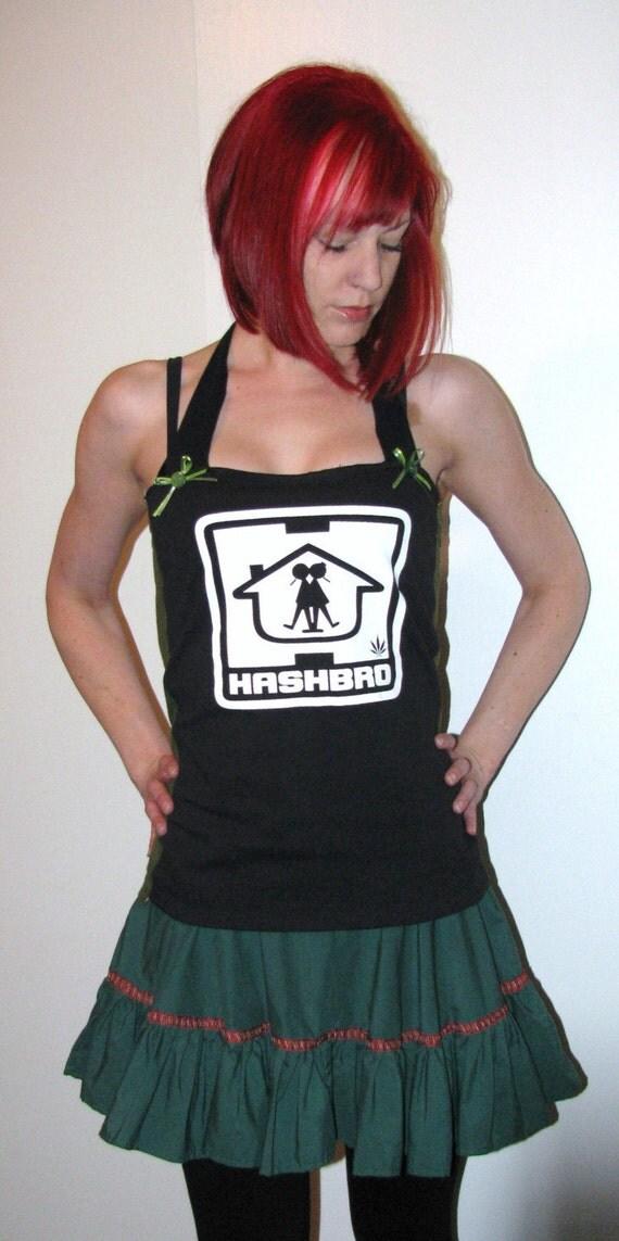 Arsniccandy Green y Black Hashbro halter DIY Handmade