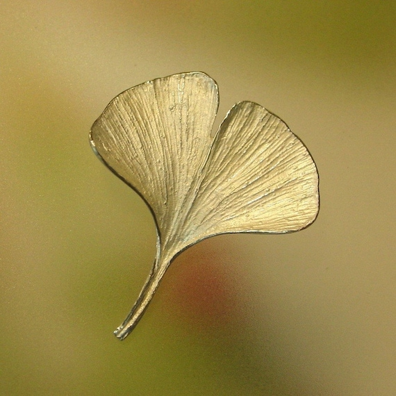 Versatile Ginkgo Leaf Pin can also be worn as a pendant ready to ship