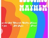 Dr Teeth and the Electric Mayhem Gig Poster (THE MUPPET MOVIE)