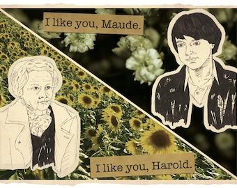 HAROLD AND MAUDE Digital Collage Print