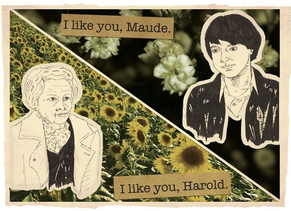 HAROLD AND MAUDE Digital Collage Print