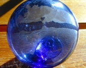Blue Moonstone Vintage Glass Fishing Float