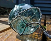 Vintage Glass Fishing Float - Day Star, SIGN/MARKED - Home Decor, Antique, Glass, Nautical, Ocean, Sea, Beach Decor, Cottage