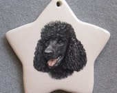 Black Poodle star ornament, or select another breed or shape, free personalizing by Nicole