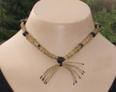 Unique Macrame Necklace Gold Choker for Women and Girls of all ages