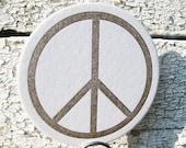 Peace Sign - Letterpress Coaster Set (8 per package)