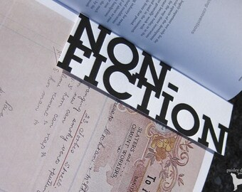 Non-Fiction - Letterpress Bookmark