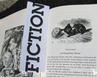 Letterpress Bookmark - Fiction