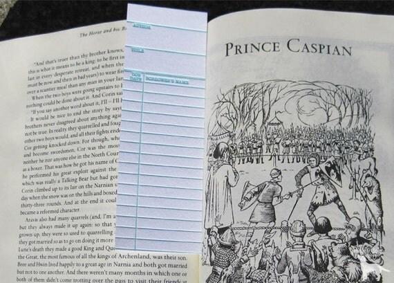 Letterpress Bookmark - Library Card