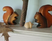 Mr and Mrs Squirrel /  Wood Waldorf Toy