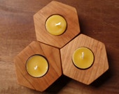 beehive modular candle holder - (set of three) modern cherry candle holders
