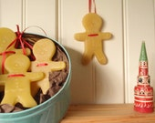 gingerbread men  beeswax ornaments- (Vintage-Inspired)