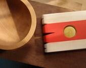 red sash modern candle holder / artifacts