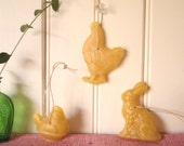 farmhouse beeswax ornament /vintage-inspired rustic decor/