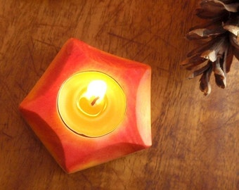 waldorf candle holde- autumn glowing /luminary natural decor / living design