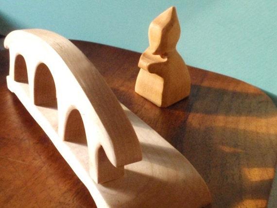 Waldorf  Village Bridge /  Wood Toy/ Nature Table