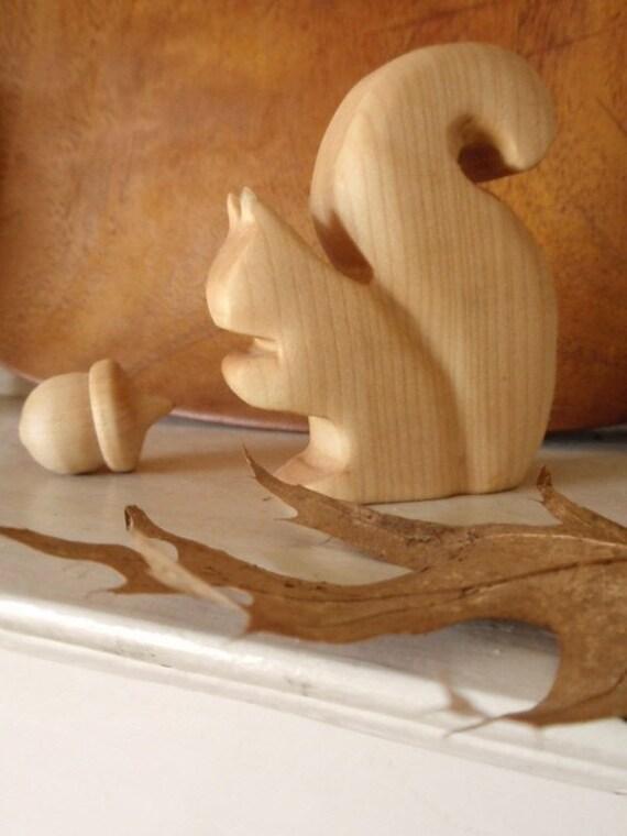 mr squirrel waldorf wood toy / Dear Sir May I Have An Acorn