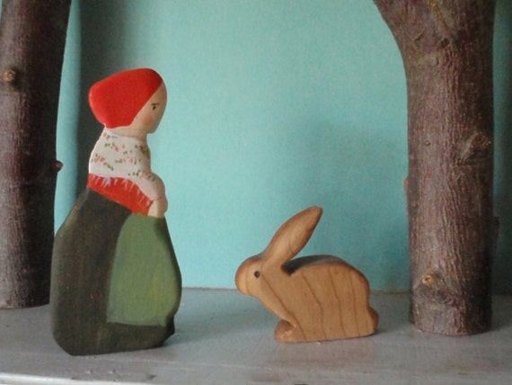 waldorf forest mama doll / elsa beskow /  waldorf nature table - /children of the forest