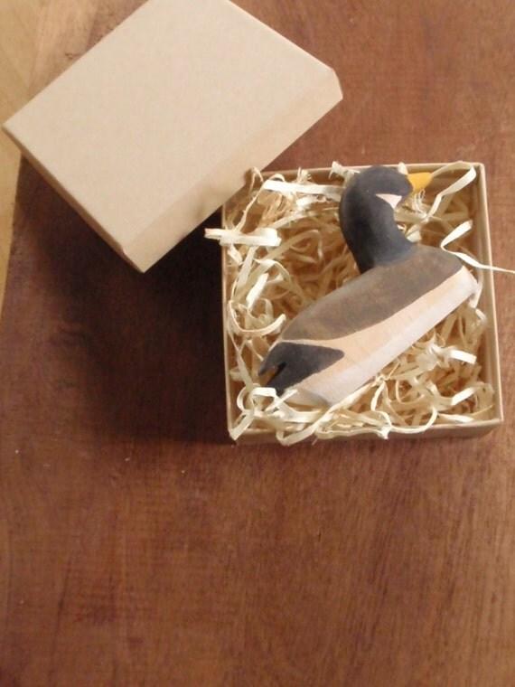 natural history  - waldorf goose / miniature wooden wildlife/ water fowl