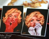 Marilyn Monroe ACEO. Set of 2 pcs. Limited edition no.7