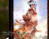 Fox Bride art print. japan geisha fox bride kimono kitsune anime manga