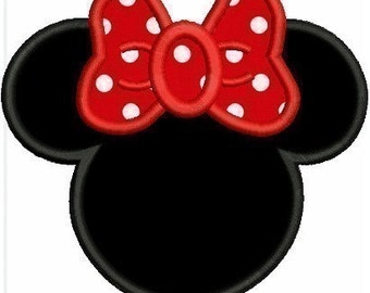 Applique Minnie Mouse Disney Inspired Machine Embroidery Designs - 3 Sizes Incl. - Instant Download Sale